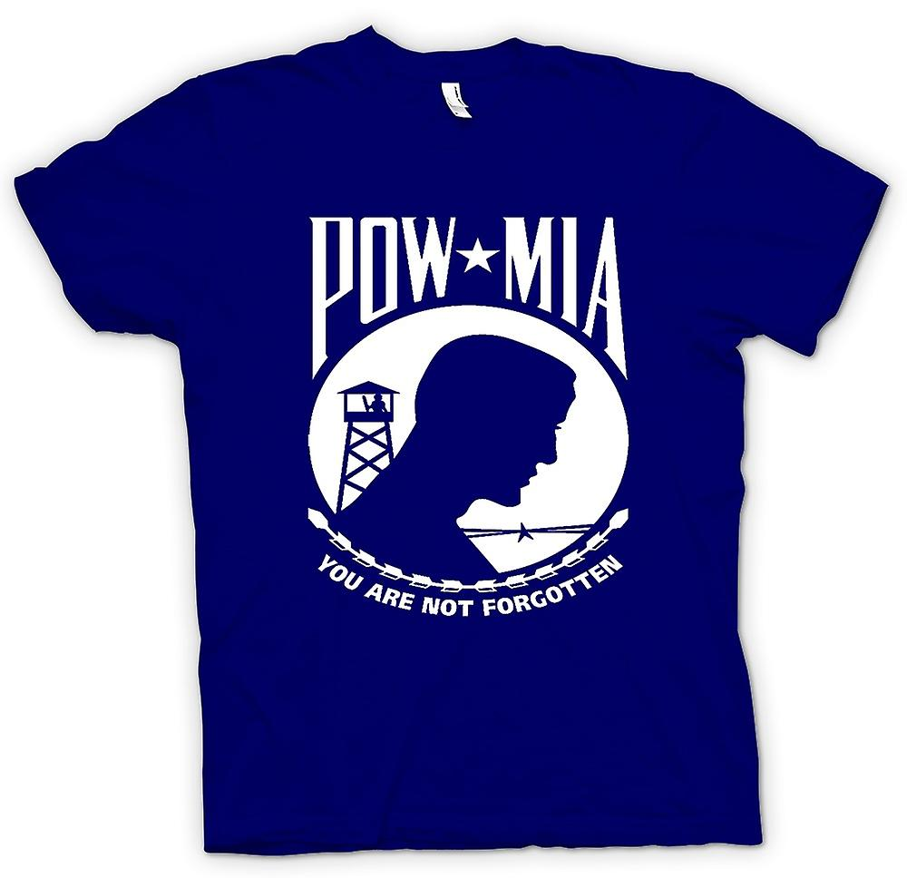 Heren T-shirt - POW MIA - Not Forgotten
