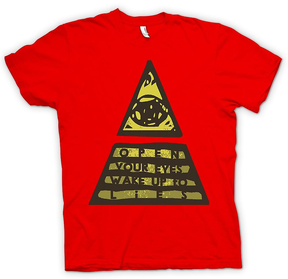 Mens T-shirt - Illuminati Wake Up To The Lies