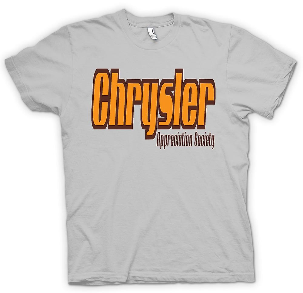 Mens t-skjorte-Chrysler Appreciation Society