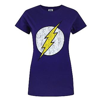 Offical Flash Distressed Logo Women's T-Shirt Purple