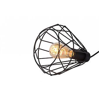 Lucide Kyara Vintage trekant Metal sort bordlampe
