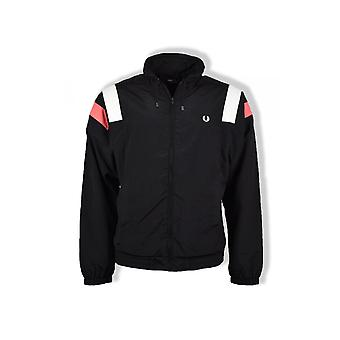 Fred Perry Colourblock Shell giacca (nero)
