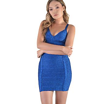 92df5761c4d LMS Mini Glitter bandasje kjole i blått