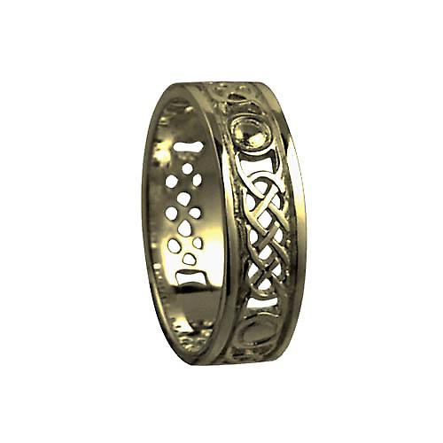 9ct Gold 8mm solid Celtic Wedding Ring Size Y