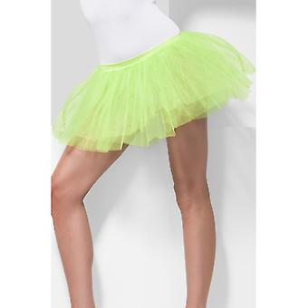 Womens Lime groene Tutu onderjurk Fancy Dress accessoire
