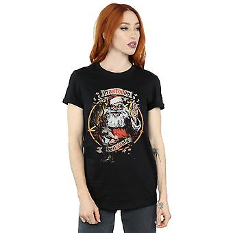Mastodon Women's Hail Santa Boyfriend Fit T-Shirt