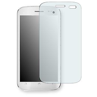 Micromax A110 canvas 2 screen protector - Golebo crystal clear protection film