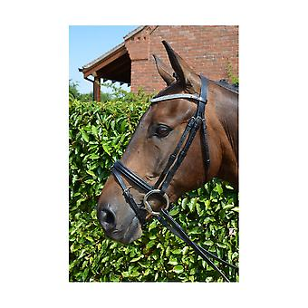 Hy Diamond Flash Bridle with Rubber Reins