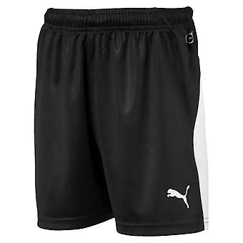 PUMA League s Jr kids of black and white football shorts