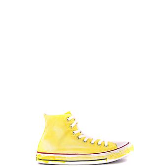 Converse Yellow Fabric Hi Top Sneakers