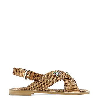 Emanuela Caruso Brown Leather Sandals
