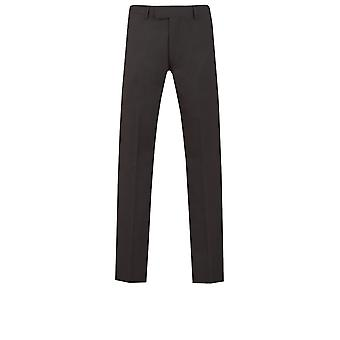 Dobell Mens Black Suit Trousers Slim Fit