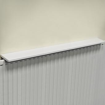 Chunky Gloss Over Radiator Shelf 120cm / 4ft  - White