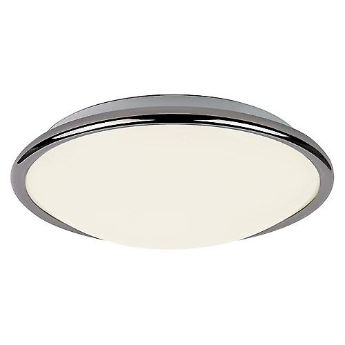 Endon EL-1725-BC Energy Saving Flush Chrome Fitting With Opal Glass