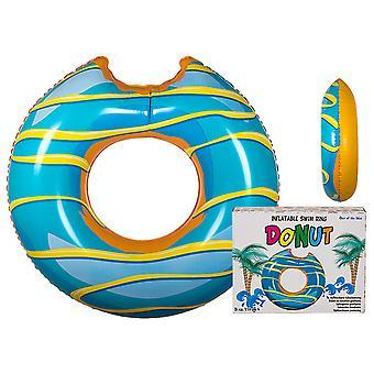 Oppblåsbare gigantiske Simring svømming ring munk donut Blue 117cm