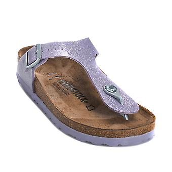 Junior Girls Birkenstock Gizeh Magic Galaxy Sandal In Violet- Slip-On Toe Thong