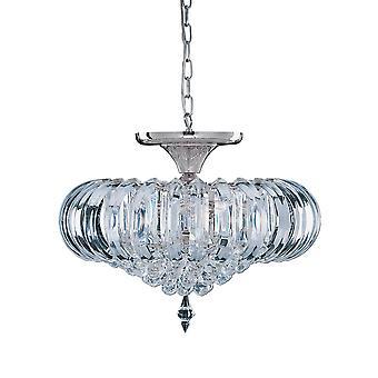 Sigma 5 luz Semi al ras del techo accesorio con decoración de cristal - reflector 50004CC