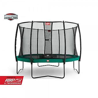 BERG Champion 430 14ft Trampoline+ Safety Net Deluxe Green