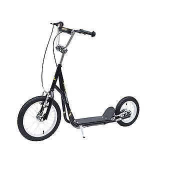HOMCOM Adult Teen Push Scooter Kids Children Stunt Scooter Bike Bicycle Ride On Alloy Wheel Pneumatic Tyres (Black)