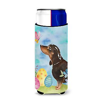 Black and Tan Dachshund Easter Michelob Ultra Hugger for slim cans