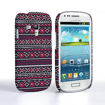 Caseflex Samsung Galaxy S3 Mini Fairisle Case – Grey with Red Background