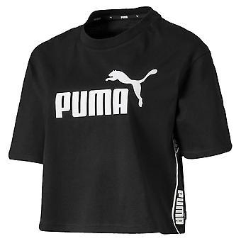 Puma Amplified Womens Ladies Sports Fashion Cropped T-Shirt Tee Black