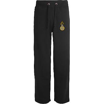 Royal Highland Fusiliers - Licensed British Army Embroidered Open Hem Sweatpants / Jogging Bottoms