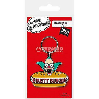 The Simpsons Krusty Burger PVC flexible keyring (py)
