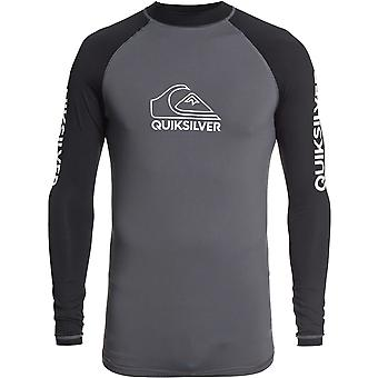 Quiksilver On Tour Long Sleeve Rash Vest in Iron Gate