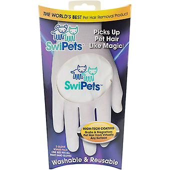 Swipets White Hair Cleaning Glove 2/Pk- SWIPETS