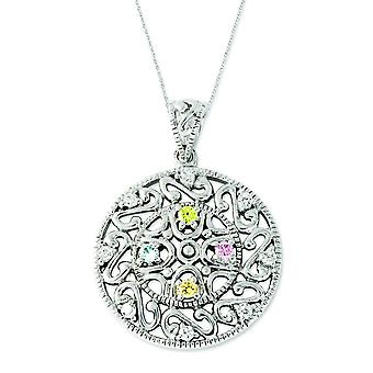 Sterling Silver CZ Bliss 18 tum halsband