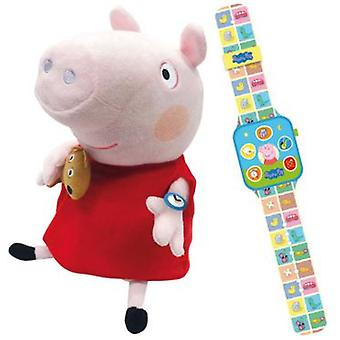 Bandai Peppa And Its Smartwatch (Giocattoli , Prescolare , Bambole Peluches)
