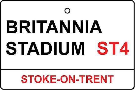 Stoke / Britannia Stadium Street Sign Car Air Freshener