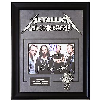 Metallica Signed Picture Poster in Framed Case
