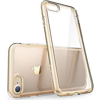 iPhone 7 fall, skrapa resistenta, i-Blason klar, Halo-serien, för Apple iPhone 7 2016 frigöringsknapp-klar/guld