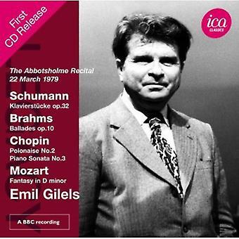 Schumann/Brahms/Chopin/Mozart - Abbotsholme betragtning, 22 marts 1979 [CD] USA importerer