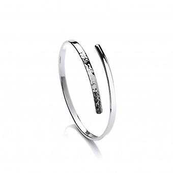 Cavendish French Sterling Silver Skinny Beaten End Cleo Bangle