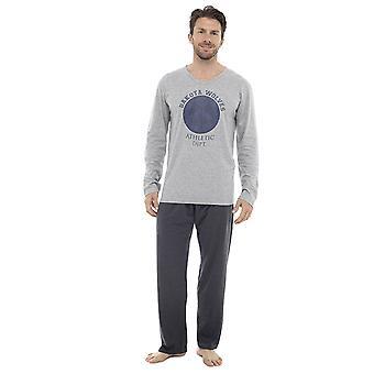 Mens Long Sleeve Dakota Wölfe Design Pyjama Loungewear