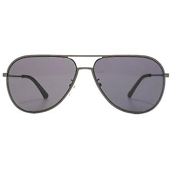 Police Highway Two Aviator Sunglasses In Shiny Gunmetal