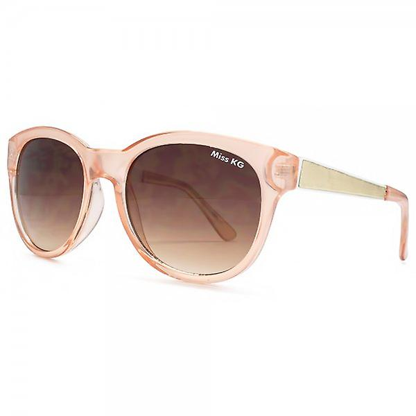 Miss KG Round Sunglasses With Metal Temple In Crystal Pink