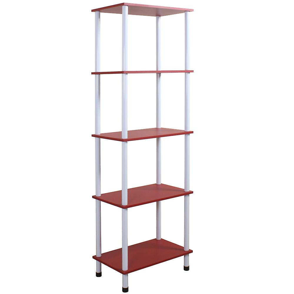 Wickford - Five Tier Storage Shelving / Display Unit - Red