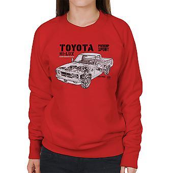 Haynes Werkstatt Handbuch Toyota Hi Lux schwarz Damen Sweatshirt