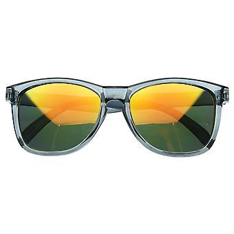 Froggy Designer geïnspireerde belangrijkste gat hoorn omrande Zonnebrillen w / kleur Mirror Lens