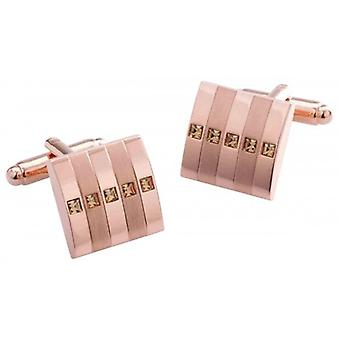 Duncan Walton Radan Diamond Cufflinks - Rose Gold