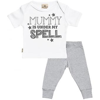 Spoilt Rotten Mummy Is Under My Spell Baby T-Shirt & Baby Jersey Trousers Outfit Set