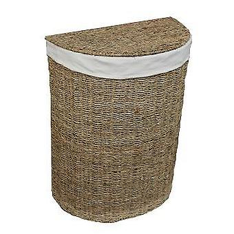 Small Seagrass Semi Circle Laundry Basket