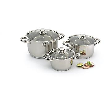 Berghoff 6 piece cookware set Vision prima stainless teel