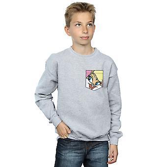 Looney Tunes Boys Lola Bunny Face Faux Pocket Sweatshirt