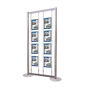 8 tasca A4 Poster Display Stand