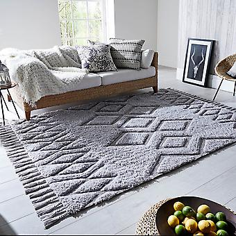Solitaire Daria Rugs In Grey By Luxmi